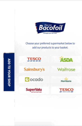 Bacofoil preferred retailers