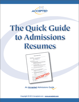 Download your copy of The Quick Guide to Admissions Resumes!