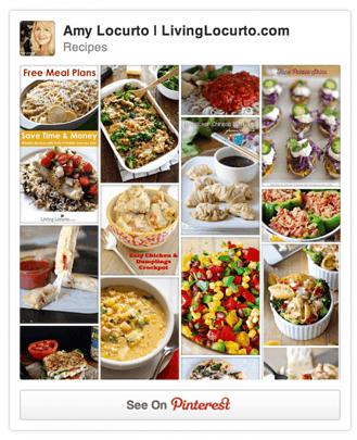 Pinterest Recipe Board by Amy of LivingLocurto.com