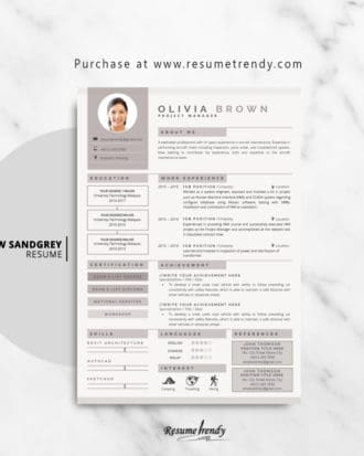 Resume-Template-Aarow-Sandgrey-2018