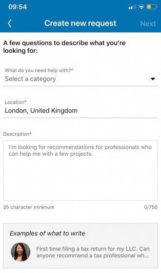 LinkedIn Find an Expert