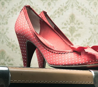 Vintage Schuhe Rot