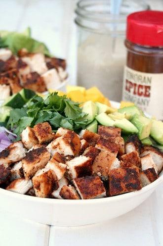 Chipotle Chicken Mango Salad