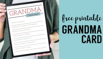 Grandma Gifts for Mother's Day - Printable Card. Easy DIY Mother's Day grandma gift from kids or toddlers. Printable fill in card. #papertraildesign #grandma #mothersday #mothersdaygift