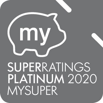 Super ratings platinum 2020 my super award logo