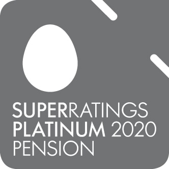 Super ratings platinum 2020 pension award logo