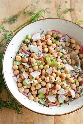Chickpea Salad with Roasted Lemon Vinaigrette