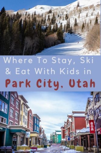 Park city has plenty for families to do in winter, on the ski slopes and around town. Plus great eating and resorts. Here all you need to know for a ski vacation with kids. @parkcity #utah #ski #vacation #kids #skiresorts #restaurants #thingstodo #ideas