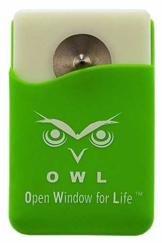 The owl can break a window and slice a seatbelts
