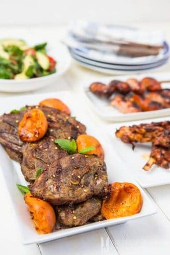 Curried lamb with apricots is typical south african fusion and a braai staple.