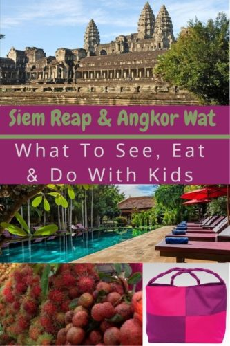 Here are things to do, what do eat and hotels to book if your planning to visit angkor wat and siem reap with kids. Plus tips on which temples to see and skip. #siemreap #angkorwat #cambodia #kids #thingstodo #food #hotels #tips #ideas