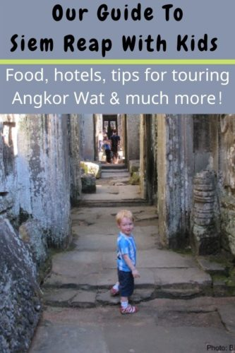 Siem reap is a surprisingly kid-friendly destination. Here's how to explore the angkor temples, what your kids will eat, hotel tips and other things to do your vacation. #siemreap #angkorwat #cambodia #kids #vacation #tips #thingstodo #food #hotels #tours