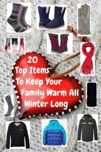 Warm winter clothes