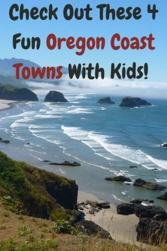 4 towns you can't miss on a road trip down the oregan coast with kids. Plus hotel suggestions in case you want to stop overnight. #oregan #coast #roadtrip #stops #sights #ideas #hotels