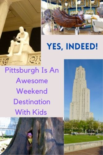 Pittsburgh's oakland neighborhood is a great base for your weekend exploring the city with kids. Here are the most unique things to plus restaurant and hotels. #pittsburgh #pennsiylvania #kids #weekend #getway #ideas #restaurants #food #hotels #fun