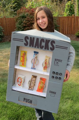 Candy Vending Machine Costume - Cute Kids Halloween Costumes! Over 25 of the Best DIY Halloween Ideas to inspire you on Trick or Treat night!