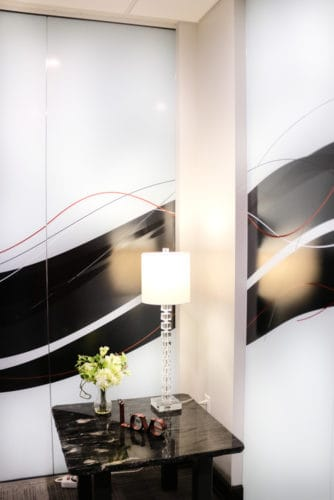 Digitally Printed Glass Divider