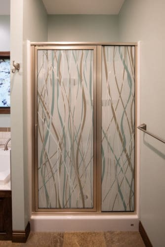 Digitally Printed Glass Shower Door