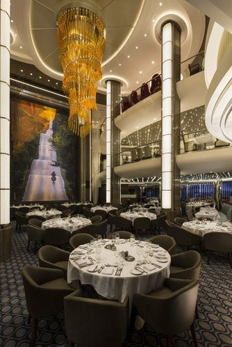 Main dining room on a royal caribbean cruise ship