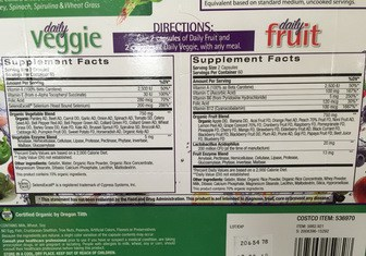 JuiceFestiv Ingredients and Supplement Facts Label