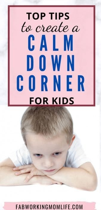 top tips to create a calm down corner for kids