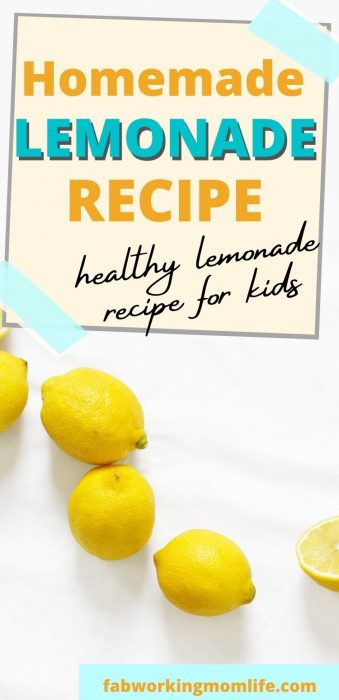 healthy homemade lemonade recipe