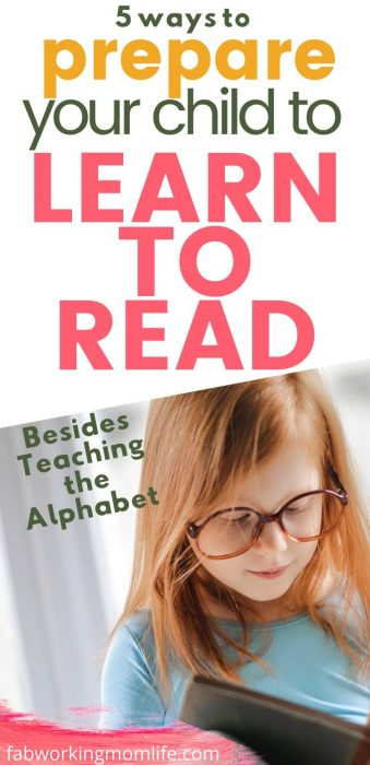prepare child to learn to read