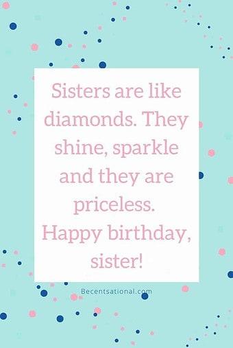 Happy Birthday, Sister!   sister birthday quotes, Happy Birthday Sister
