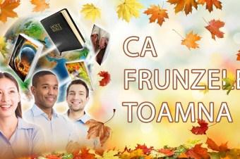"""Ca frunzele toamna"" – Prelegere"