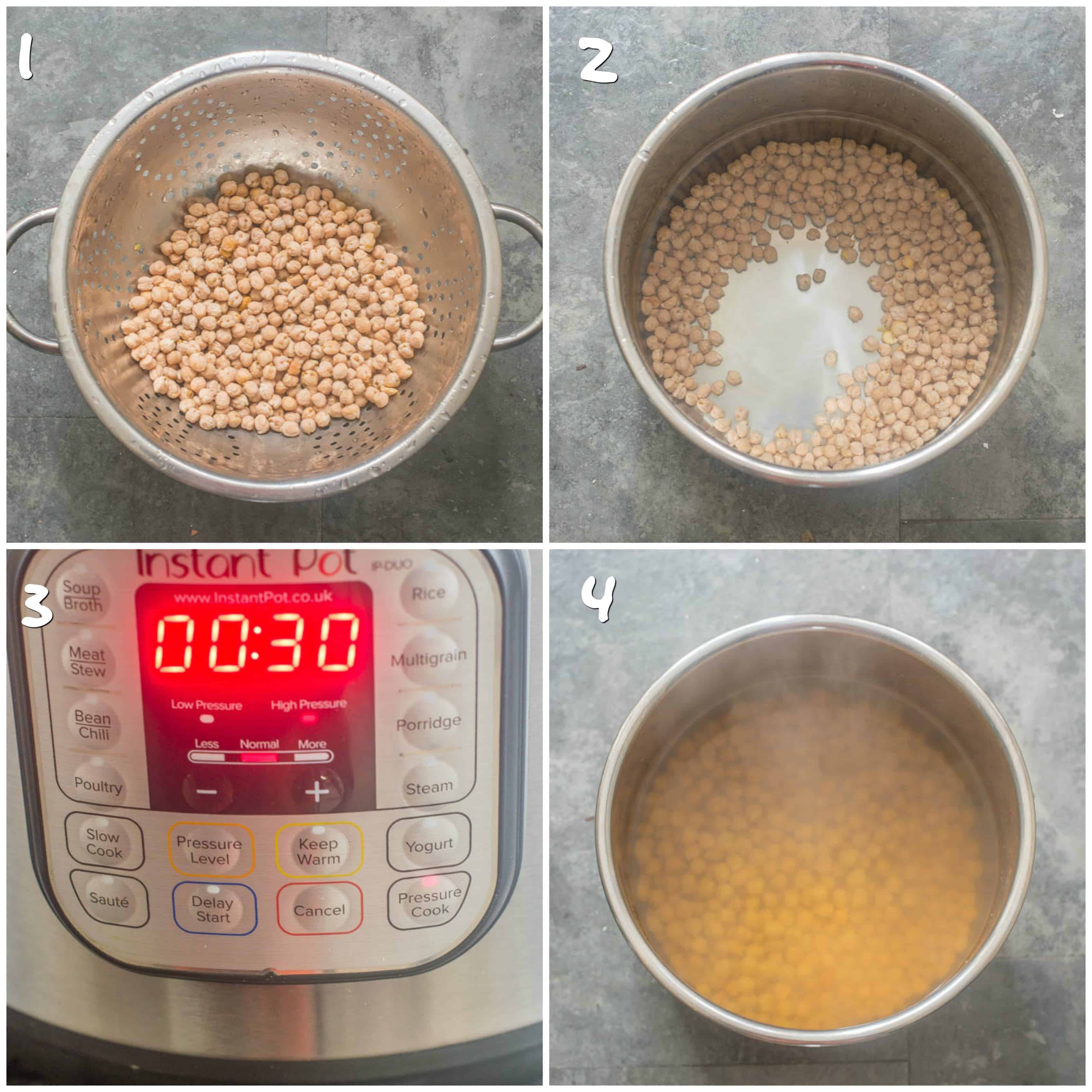 How to cook chickpeas in an instant pot