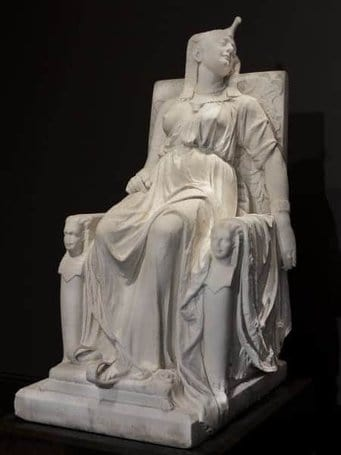 Edmonia Lewis, The Death of Cleopatra, carved 1876, marble.