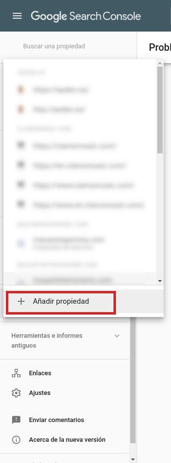 Solucionar el Aviso de Seguridad por Phising - Añadir propiedad en Google Search Console