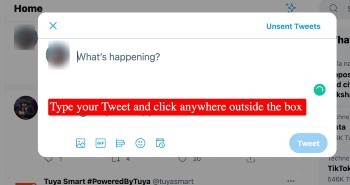 write tweet