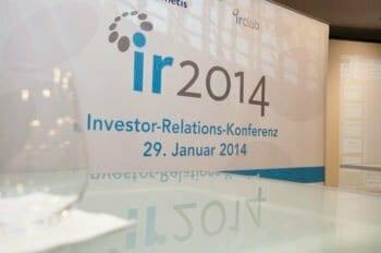 IR Konferenz 2014, Investor Relations Berater cometis AG
