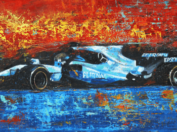 Super Charged Senna F1 Canvas