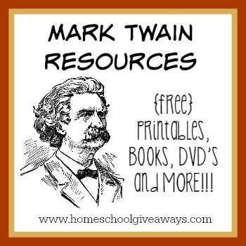 Mark Twain Resources: FREE Printables, ebook resources, DVDs, Birthday Party ideas and MORE!!!