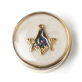 Button Cover MASONIC MOTHER OF PEARL Button Cover