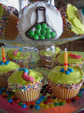 Cute Science Birthday Party Ideas! Cake ideas by LivingLocurto.com
