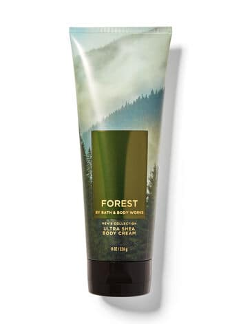 Forest body cream from Bath and Body Works