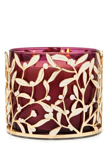 Misteltoe candle holder from Bath and Body Works