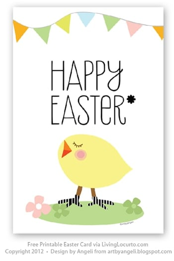 Free Printable Easter Card and Best DIY Easter Crafts and Recipes