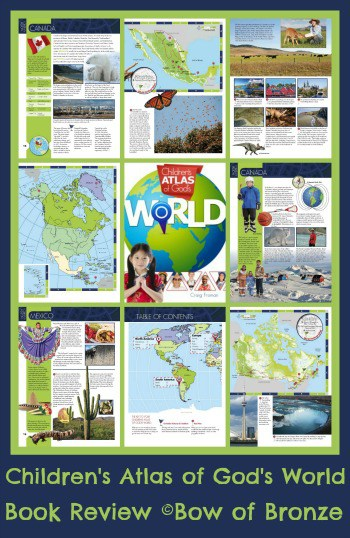 Looking for an atlas for your elementry aged kids? Give the Children's Atlas of God's World a try. This book is full of gorgeous pictures and illustrations along with interesting facts. It is written from a Christian world-view. Click over for our complete review.