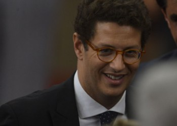 O futuro ministro do Meio Ambiente, Ricardo Salles, na cerimônia de diplomação do presidente eleito, Jair Bolsonaro, no TSE.