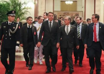 (Pequim - China, 25/10/2019) Presidente da República, Jair Bolsonaro e delegação brasileira, retornam ao Hotel St. Regis.rFoto: Isac Nóbrega/PR