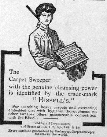 Vintage Bissell Carpet Sweeper Ad