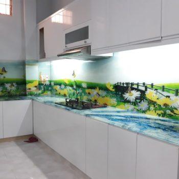 Mẫu kính ốp bếp TOP-206 tại nhà anh Khải - phường 1 - Tp Bạc Liêu