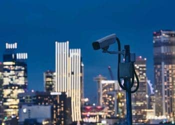 CCTV camera used by a NYC Security Company