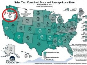 sales tax map