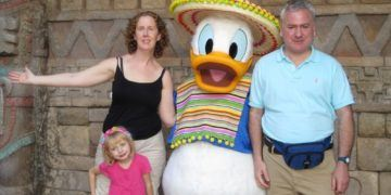 Donald duck is a caballero at epcot center