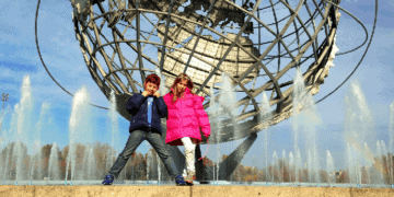 Kids near two kid-friendly museums in flushing meadow park, nyc